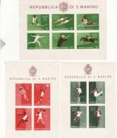 P - 1960 San Marino - Olimpiadi Di Roma -non Dentellati - Blocks & Sheetlets