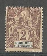 Guadeloupe N°28* - Nuovi