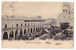 AMERICA MEXICO GUADALAJARA PORTALS OLD POSTCARD 1905. - Mexico