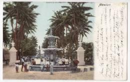 AMERICA MEXICO ALAMEDA DE VERA CRUZ OLD POSTCARD 1904. - Mexico