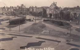 CPSM SAINT MALO VU DU CASINO APRES LES BOMBARDEMENTS DE 1945 - Saint Malo