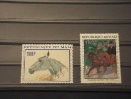MALI - P.A 1967 QUADRI Di CAVALLI 2 Valori - NUOVI(++)-TEMATICHE - Mali (1959-...)