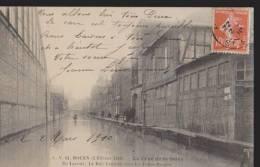 CPA:Rouen:Crue De La Seine 02/02/1910:Ile Lacroix.Rue Centrale/Folies Bergères - Rouen