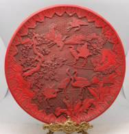 20=Large Antique Chinese Cinnabar Dish 34.5cm - Art Asiatique