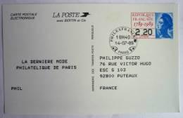 FRANCE Carte Postale électronique Philexfrance 89 - Entier Postal - (N°2496A-CP) - Entiers Postaux