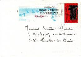 LSI 2847+LSA 0.30 Jumelage Coutances-Hochenfurt X éme  Annniversaire  Donville Barres De Tri - 1961-....