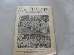L´Actualité Dimanche 11 Juin 1905   Photo De Couverture  Le Mariage Du Kronprinz - Journaux - Quotidiens