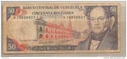 Venezuela - Banconota Circolata Da 50 Bolivares - 1998 - Venezuela