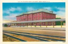 : Réf : Q-12- 0803  :  Atlantic Coast Line Depot Rocky Mount N.C. - Etats-Unis
