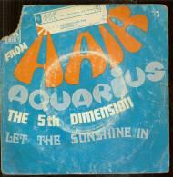 """45 Tours SP - THE 5th DIMENSION  - LIBERTY 90098  """" AQUARIUS """" + 1 - Autres - Musique Anglaise"""