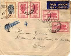 Enveloppe - Congo Belge - 25c Et 6f - Par Avion - T - Congo - Brazzaville