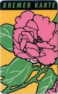 Bremer Karte - Tramticket,Straßenbahnfah Rkarte - Blumen (1) - Andere Sammlungen