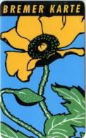 Bremer Karte - Tramticket,Straßenbahnfah Rkarte - Blumen (2) - Andere Sammlungen