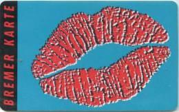 Bremer Karte - Tramticket,Straßenbahnfah Rkarte - Lippen,lips - Andere Sammlungen