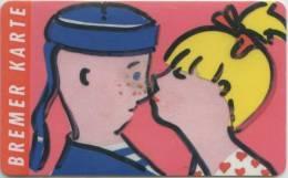 Bremer Karte - Tramticket,Straßenbahnfahrkarte - Junges Paar - Andere Sammlungen
