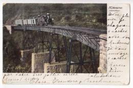 AMERICA MEXICO VERACRUZ VIADUCT WIMER THE TRAIN OLD POSTCARD 1905. - Mexico