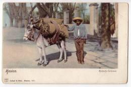 AMERICA MEXICO BOY CARBONERO LATAPI&BERT Nr. 6372 FOLDED CORNER OLD POSTCARD - Mexico