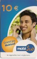 CARTE-PREPAYEE-GSM-10€MOBISUD-GRAND JEU-TB E- - France