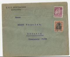 =DE  BRIEF 1921  NACH LIEPZIG - Usados