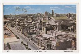 AMERICA URUGUAY MONTEVIDEO PARTIAL VIEW Nr. 22 OLD POSTCARD - Uruguay