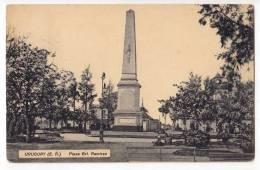 AMERICA URUGUAY GRL. RAMIREZ SQUARE THE MONUMENT OLD POSTCARD 1915. - Uruguay