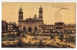 AMERICA URUGUAY MONTEVIDEO CONSTITUTION SQUARE OLD POSTCARD - Uruguay
