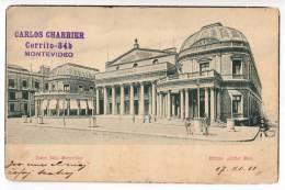 AMERICA URUGUAY MONTEVIDEO THE SOLIS THEATRE OLD POSTCARD 1911. - Uruguay