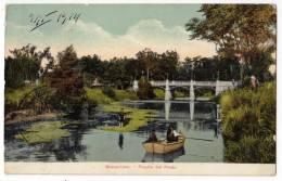 AMERICA URUGUAY MONTEVIDEO BRIDGE GRASSLAND OLD POSTCARD 1914. - Uruguay