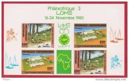 CENTRAFRICAINE  NON DENTELE  / IMPERF. LOGO SOCCER  YVERT N°694A - Football