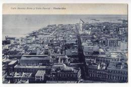AMERICA URUGUAY MONTEVIDEO BUENOS AIRES STREET AND PARTIAL VIEW OLD POSTCARD - Uruguay