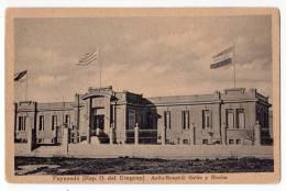 AMERICA URUGUAY PAYSAUDU ASYLUM HOSPITAL GALAN AND ROCHA OLD POSTCARD - Uruguay