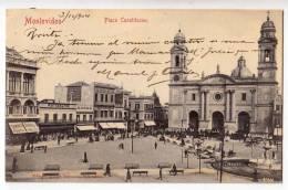 AMERICA URUGUAY MONTEVIDEO CONSTITUTION SQUARE OLD POSTCARD 1904. - Uruguay