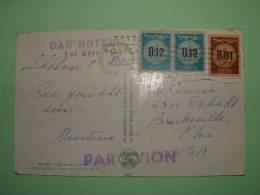 "Israel 1960 Postcard ""Jerusalem""  To USA - Coins Agave Plant Door - Israele"