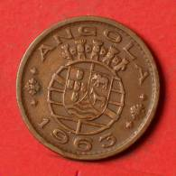 ANGOLA  1  ESCUDOS  1963   KM# 76  -    (1297) - Angola