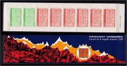 ANDORRE Francais 1987 - Type Ecu Primitif Des Vallees - Carnet Neuf (Yvert C1 (356/57)) - Unused Stamps