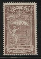 FRANCE 1909 NANCY EAST FRANCE INTERNATIONAL EXHIBITION UNCOMMON HM POSTER STAMP TYPE 2 BROWN EXPO - Zonder Classificatie
