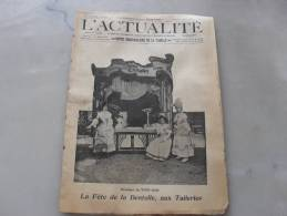 L´Actualité 2 Juillet  1905  Photo De Couverture  La Fete De La Dentelle Aux Tuileries - Journaux - Quotidiens