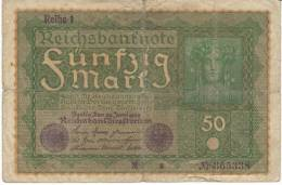 #66 Germany 50 Marks 24.6.1919 Banknote Currency - 50 Mark