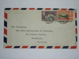TRINIDAD AND TOBAGO GEORGE VI AIR MAIL COVER 1946 TO SCOTLAND - Trindad & Tobago (...-1961)