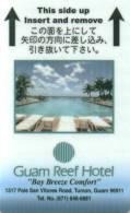 Clef D`hotel Room Key Keycard Chiave Di Albergo Tarjeta Hotel Hotelkarte GUAM REEF - Frankreich