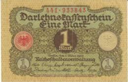 #58 Germany 1 Mark 1.3.1920 Banknote Currency - [ 3] 1918-1933 : République De Weimar