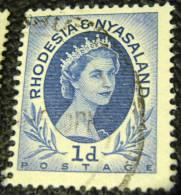 Rhodesia And Nyasaland 1954 Queen Elizabeth II 1d - Used - Rhodesia & Nyasaland (1954-1963)