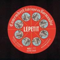 Etiquette De Fromage Camembert  -  Lepetit  à Saint Pierre Sur Dives (Calvados) - Fromage