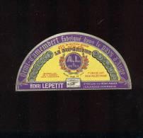 Etiquette De Fromage Demi Camembert  -  Le Supérieur  -  Henri Lepetit  à Saint Maclou (Calvados) - Fromage