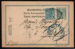 POLAND AUSTRIAN PARTITION ZONE 1900 EMPEROR FRANZ JOZEF 5H GREEN PC POSTED FROM STRZYZOW AUSTRIA - Stamped Stationery