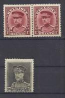 Belgie Postfris Frais Poste YT 317-318 - Belgium