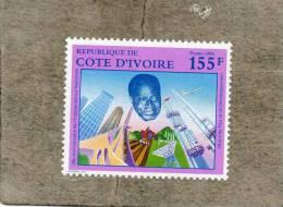 COTE D´IVOIRE : 26 Ans De L'Indépendance : Portrait Du Président, Réalisations Techniques Diverses. - Ivory Coast (1960-...)