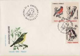 FDC  ROMANIA / ROUMANIE  1993  Birds / Oiseaux - Oiseaux