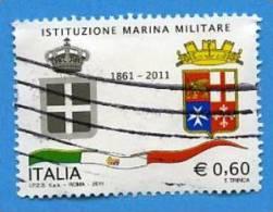 Italia 2011 Istituzione Marina Militare € 0,60 Us - 2011-...: Usati