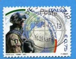 Italia 2011 Missioni Militari Italiane All'estero € 0,75 Us - 2011-...: Usati